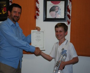 student gets his certificate