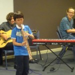 Young sax soloist