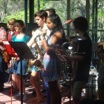 Students performing @ end of camp festival