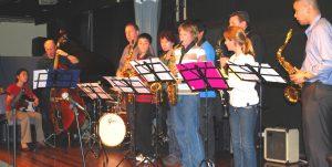 sax students at Jazz Workshop Australia concert