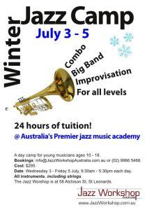 Jazz Camp 2013 brochure