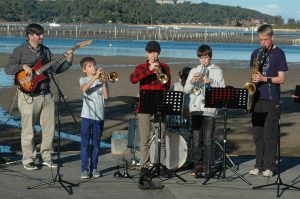 Junior combo at Merimbula Jazz Festival