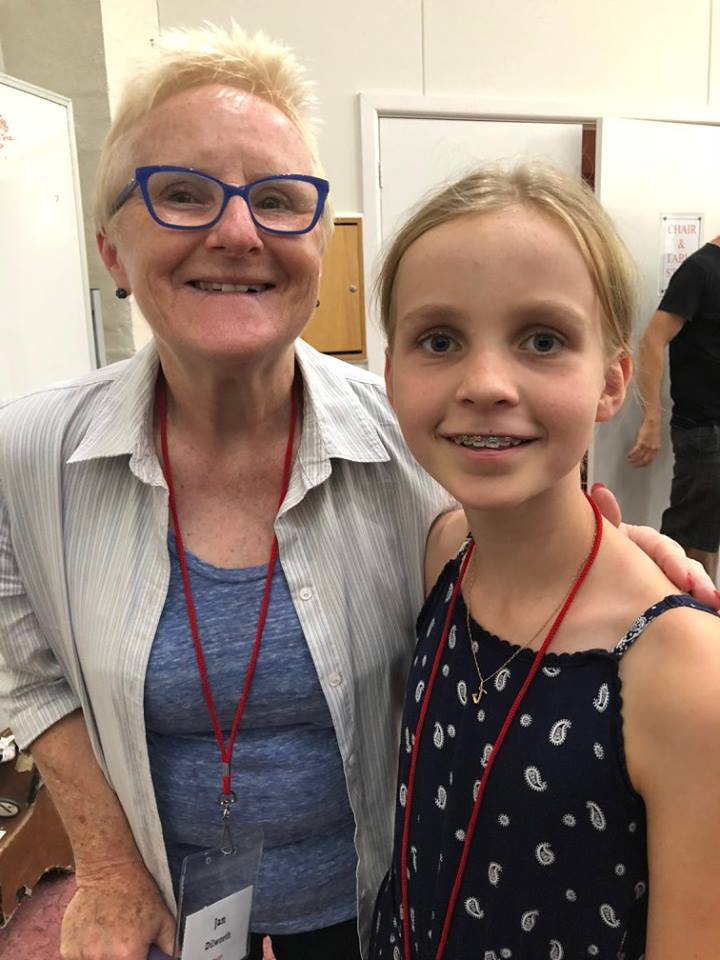 Abbey Johnston with Jan Dilworth