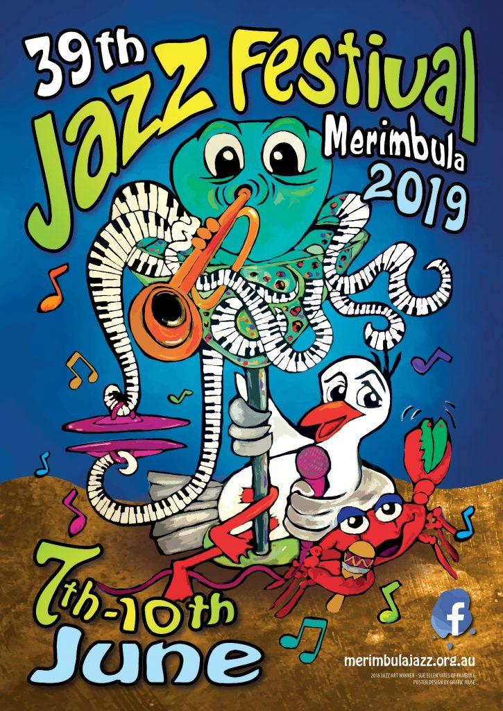 MErimbula Jazz Festival poster 2019