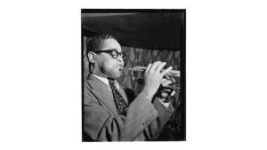 Portrait of Dizzy Gillespie by W. Gottlieb