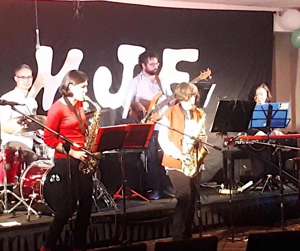 JWA adult combo peforming at Jazz Festival