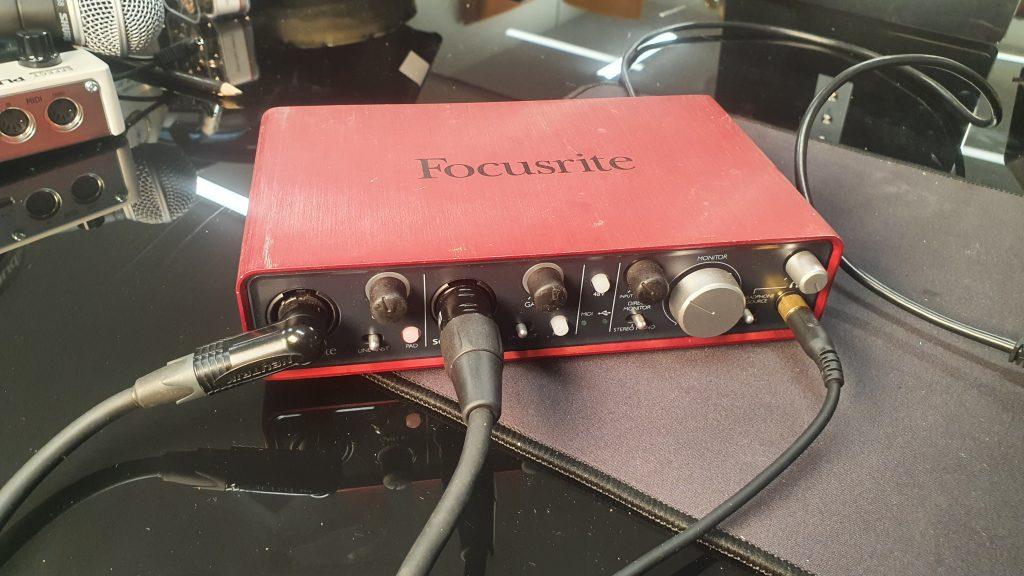 Scarlett 2i1 audio interface
